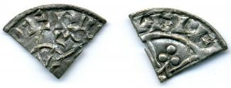 Coin, Anglo-Saxon, excavated at Winchester, Hampshire, issued by Edward the Confessor, moneyer, Aelf(-), 1042 to 1066.