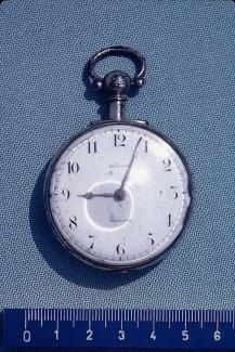 Pocket watch, silver case, from William Gregory, clockmaker, Basingstoke, Hampshire, c1827