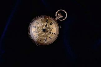 Watch, lady's, gold case? made in Switzerland early 20th century
