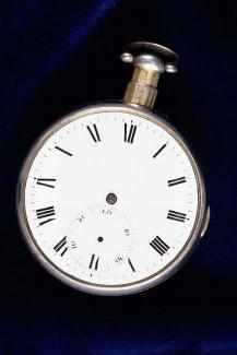 Chronometer, pocket chronometer in silver gilt case, from David Bucklee, clockmaker, London, c1808