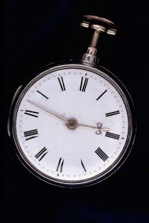 Pocket watch, silver case, from Barwise, clockmaker, London, c1805