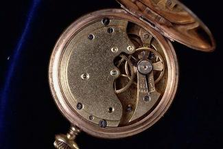 Pocket watch, gilt case, made in Switzerland early 20th century