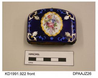 Purse, metal and enamel