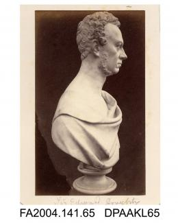 Photograph of a portrait bust, Sir Edward Doughty, side viewvol 1, page 10