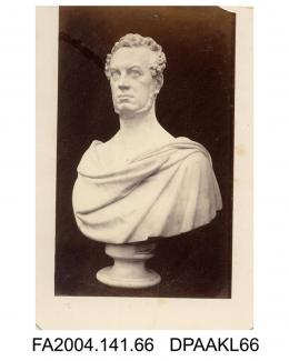Photograph of a portrait bust, Sir Edward Doughty, front viewvol 1, page 10