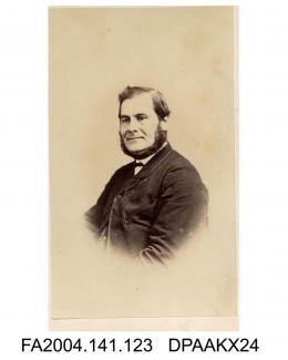 Photograph, vignette, Mr Cook, Chief Clerk, head and shoulders, taken by J F Long of Exetervol 1, page 18 - The Clerks