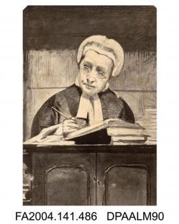 Print, Mr Justice Lush in court, sketched by Aldridgevol 1, page 58