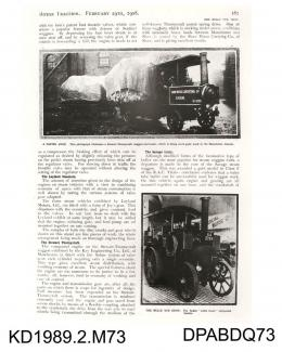 Photograph, black and white, showing Motor Traction Book p81, 29 February 1908
