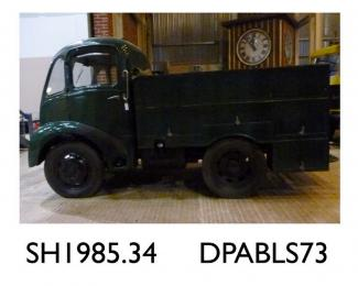 Fire tender, Trusty fire tender, used at the Thornycroft works, never given registration number, made by Thornycroft, Basingstoke, Hampshire, 1951