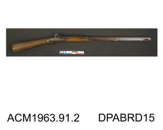 Airgun, fully stocked, 44 bore, made by I Ridiger, Copenhagen, Netherlands