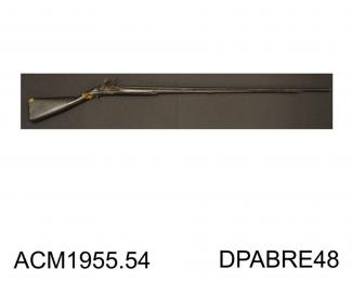 Fowling piece, flintlock, 1650