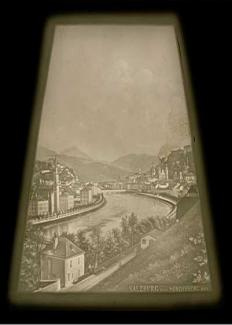 View of Salzburg Lithophane