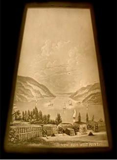 Lithophane showing view from West Point, Virginia