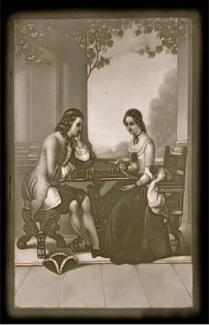 Young Couple Playing Chess 18th century